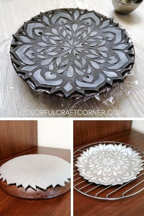 clay mandala tray