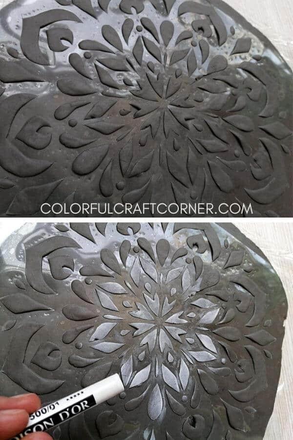 clay mandala trinket