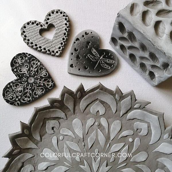 das stone effect clay crafts