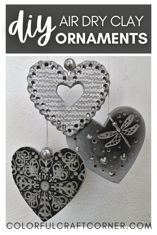 heart ornaments out of clay