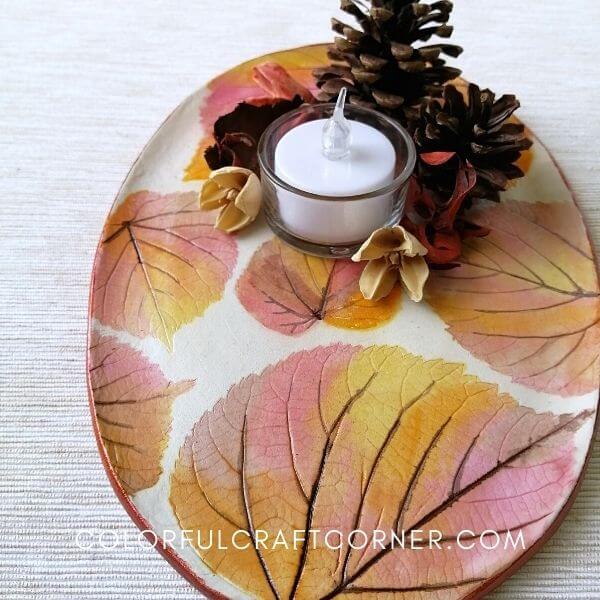 Fall clay dish