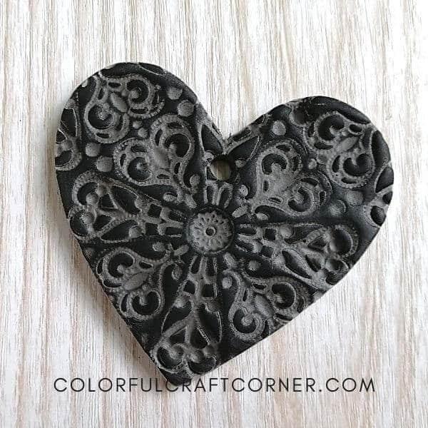 Heart Air dry clay ornament