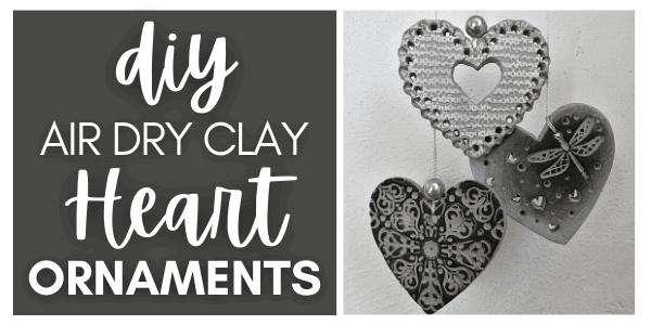 Clay Heart Ornaments