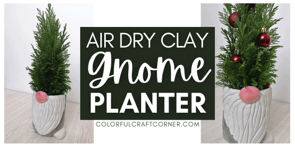 air dry clay gnome planter