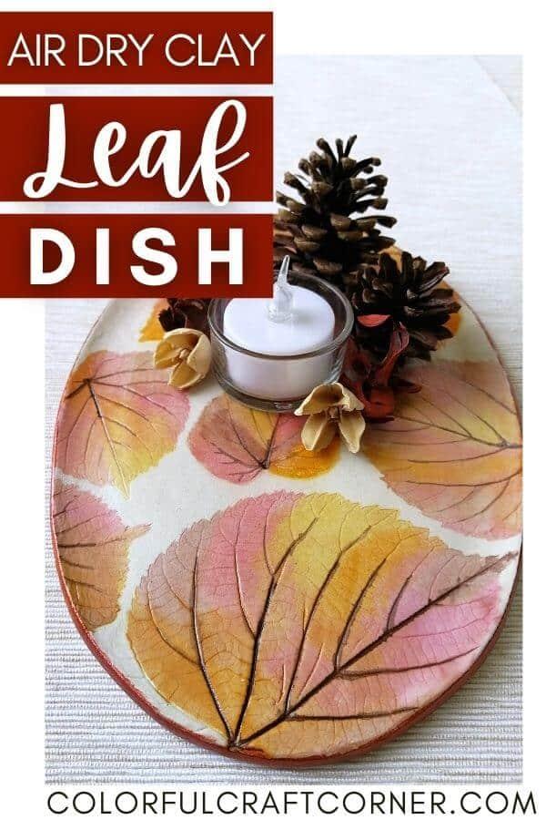 air dry clay leaf dish