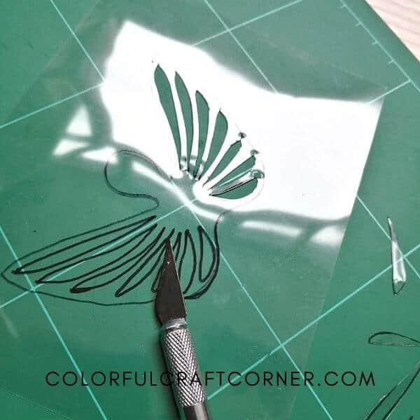 DIY angel wing stencil