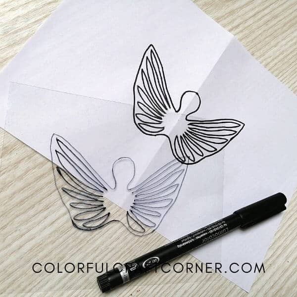 angel ornament wing template