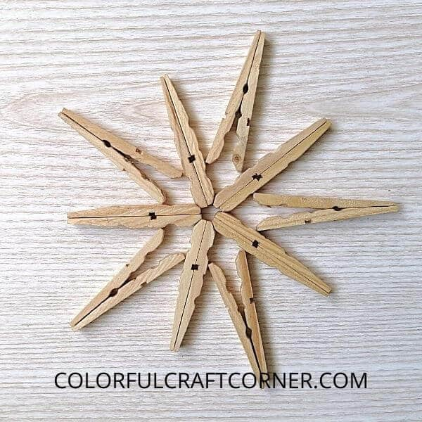 clothespin star Christmas tree topper