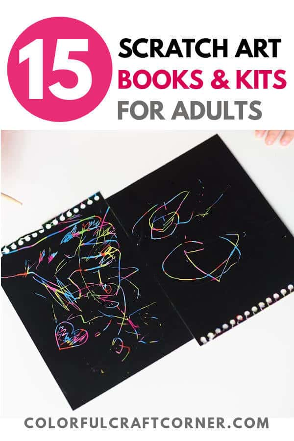 SCRATCH ART BOOKS AND KITS FOR ADULTS