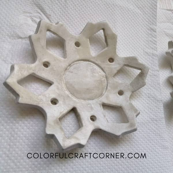 air dry clay candle holder